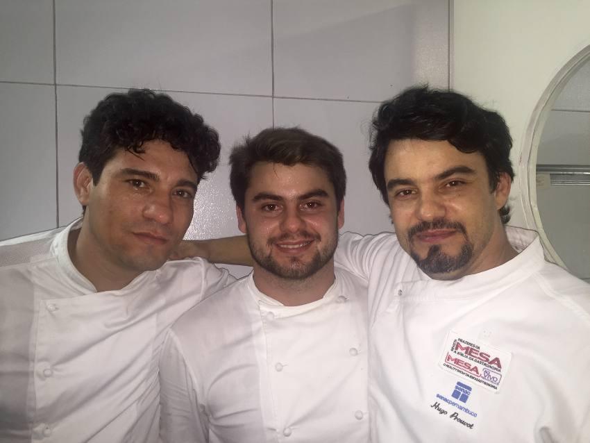 chefs Vanderley Cinti, Hugo e Julio Provout