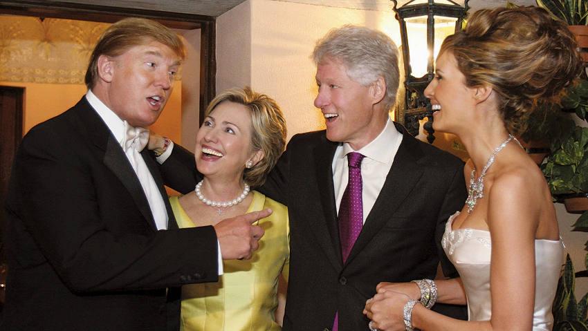 Casais Donald Trum e Bill Clinton/Reprodução