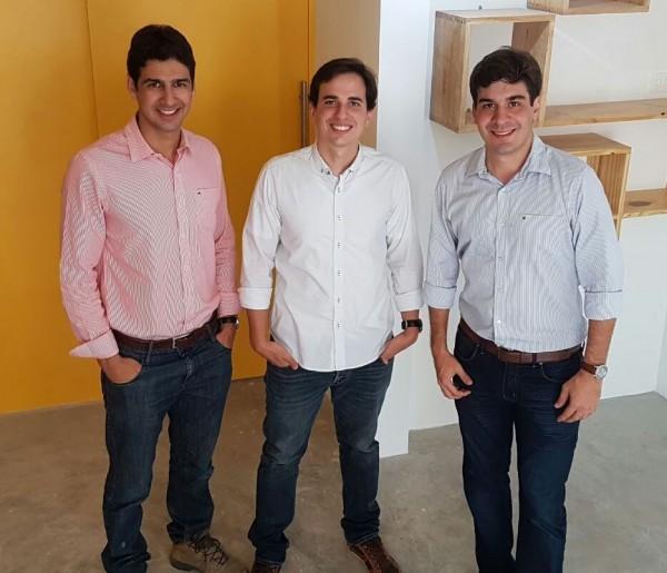 Diogo Carneiro, Alexandre Souza e  José Lois - Crédito: Divulgação