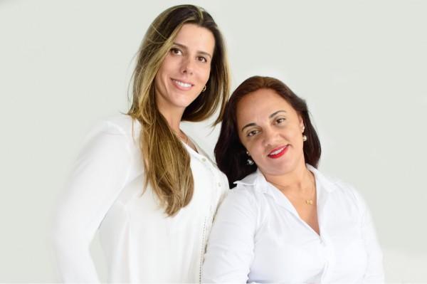 Michele Almeida e a sócia Silvia Duarte - Crédito: Tarcisio Augusto/Divulgação