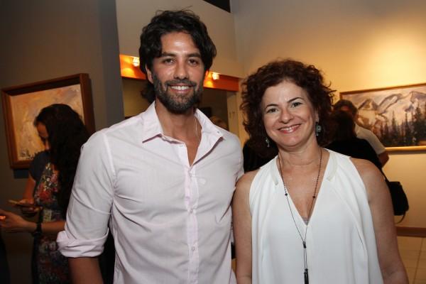 André Carício e Doris David - Crédito: Roberto Ramos/DP