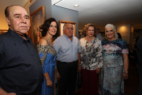 Pedro Frederico, Maria Helena Brennand, João Carlos Paes Mendonça Auxiliadora Paes Mendonça e Neném -  Crédito: Roberto Ramos/DP