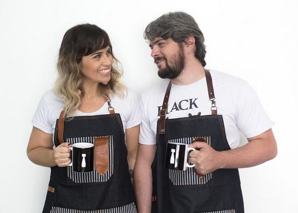 Paloma Amorim e George Geppp. Crédito: Paloma Amorim / Divulgação