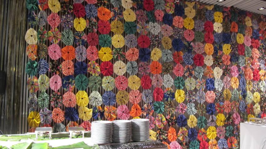 a decoração do La Cuisine Garden