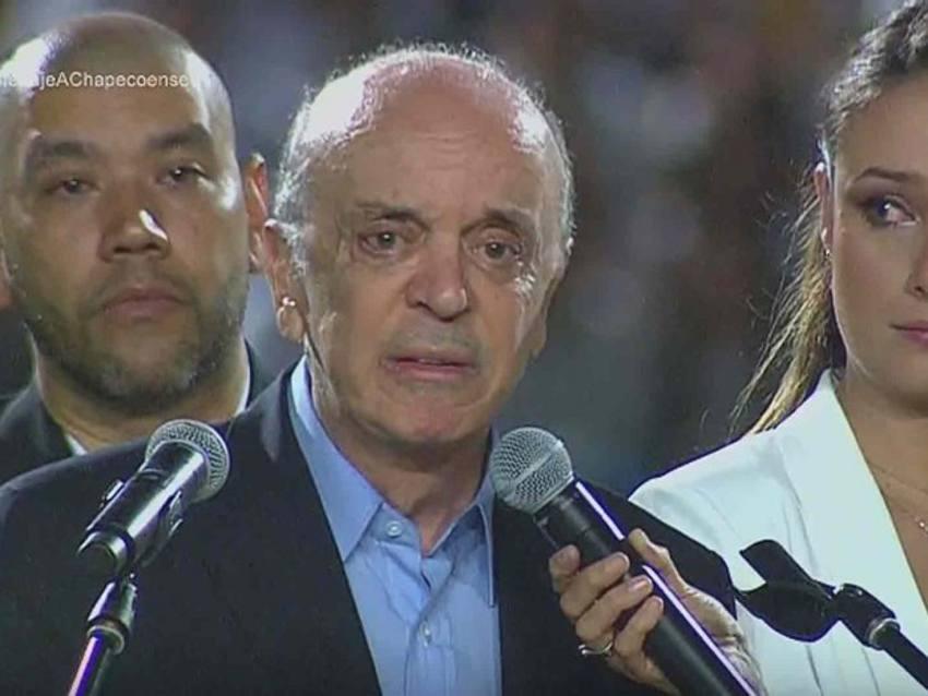 O emocionado discurso do ministro José Serra