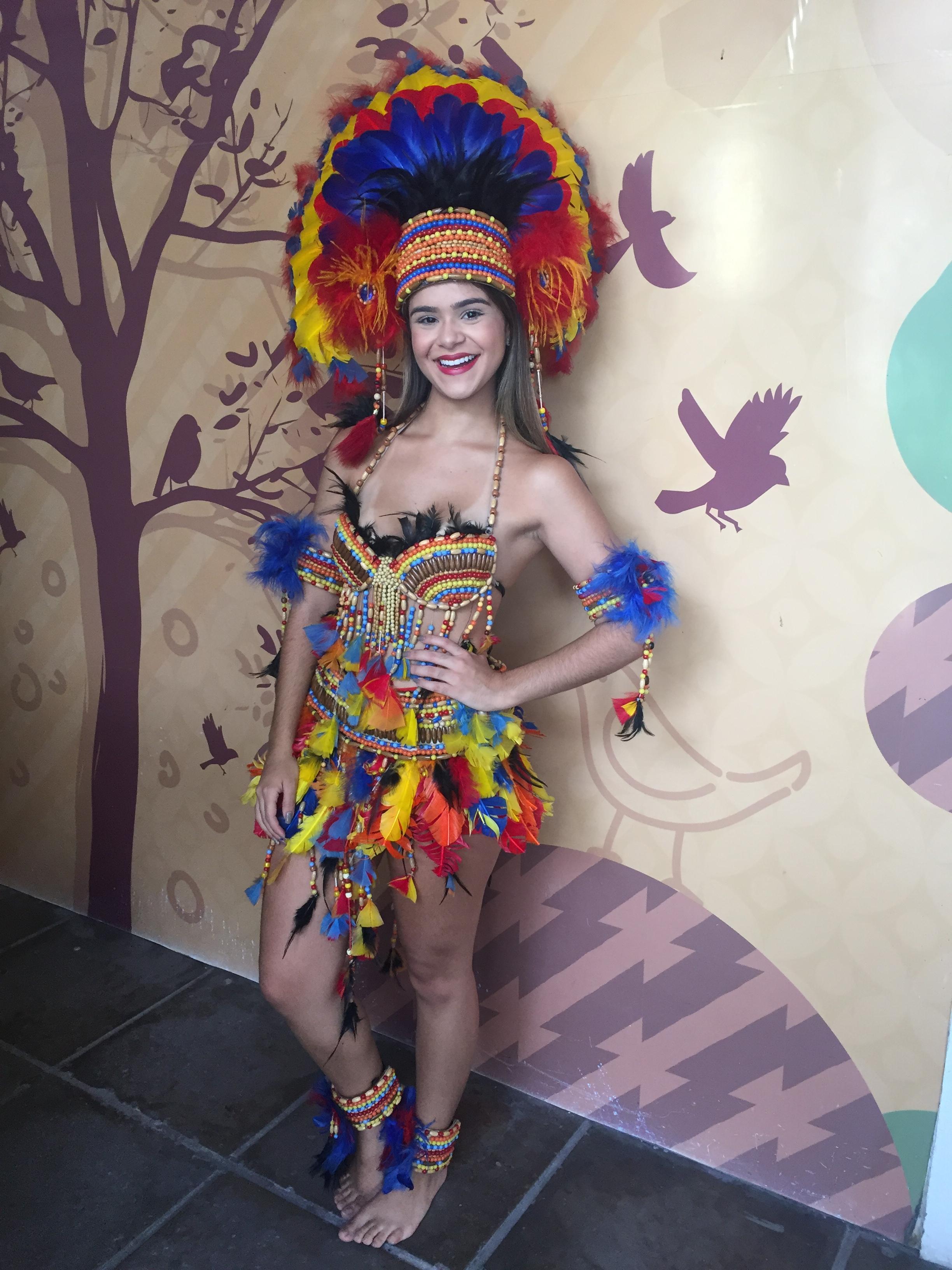 23121a7aa Fantasia de índia disponível para aluguel na Truk da Cena - Crédito  Thayse  Boldrini