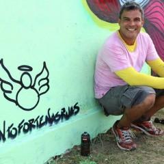 Flávio Barra vai grafitar o Galo da Madrugada