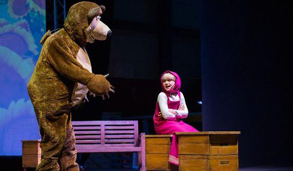 Versão teatral do seriado Masha e o Urso - Crédito: Divulgação do espetáculo