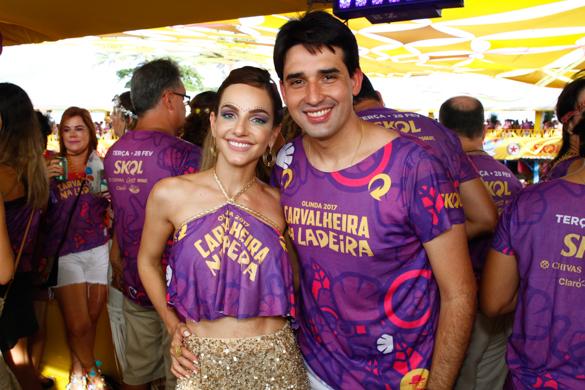 Cris Lemos e Silvio Costa Filho. Credito: Rafael Martins/ Esp. DP