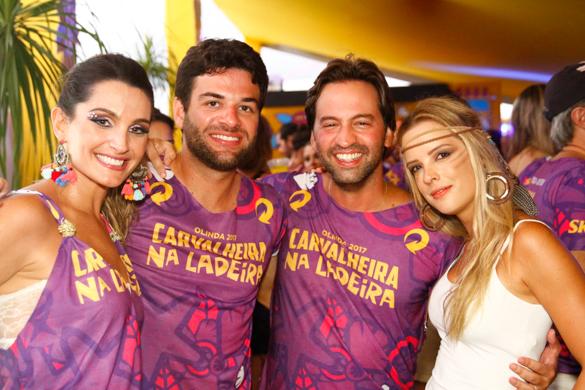 Aninha e Eduardo Pimenta com os amigos Lucy e Marcos Dubeux- Credito: Rafael Martins/ Esp. DP