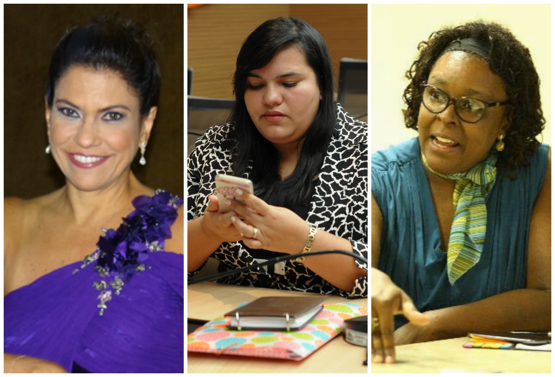 Mônica Silveira, Michelle Collins e Regina Célia - Créditos: Arquivo pessoal, Joao Velozo/ Esp. DP e Peu Ricardo/DP
