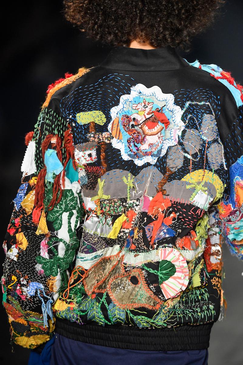 Detalhe do bordado feito por Jacira - Crédito: Agência Fotosite