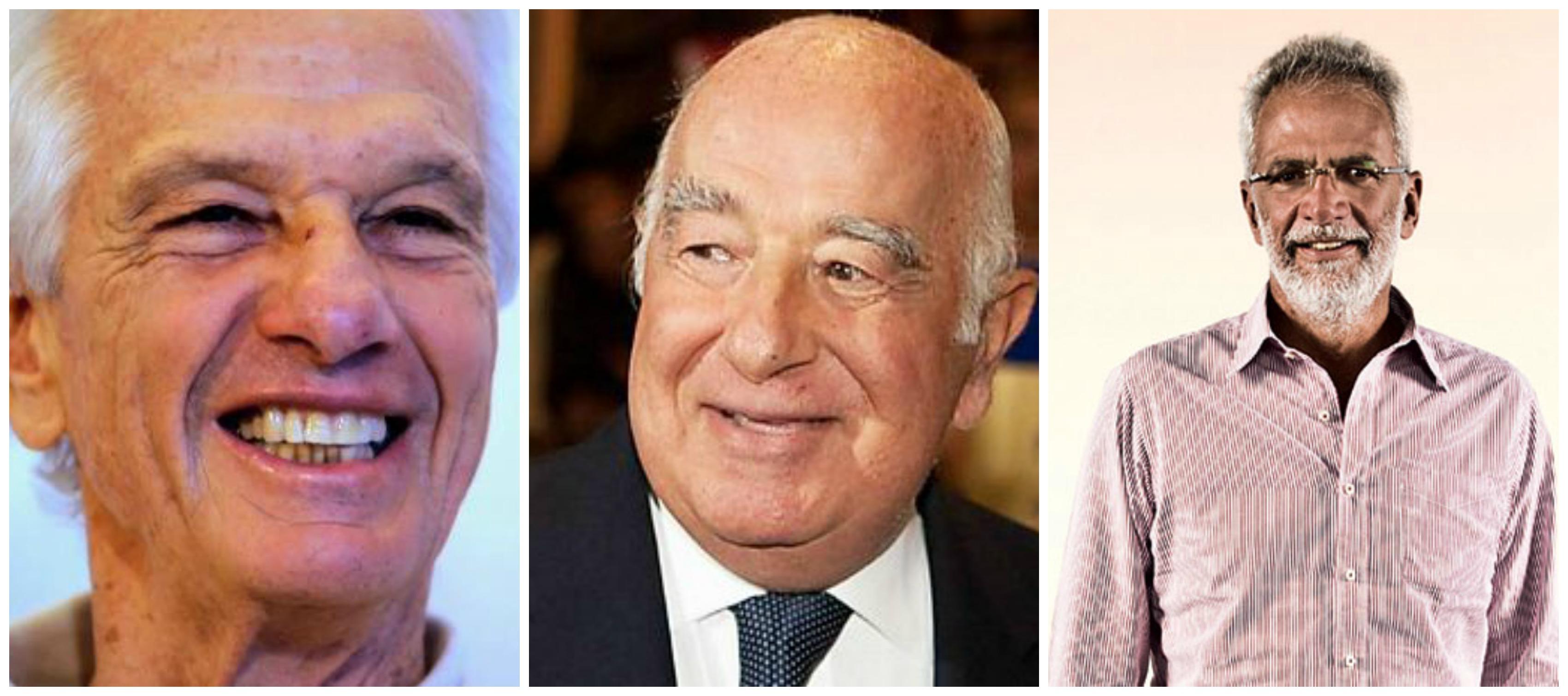 Jorge Paulo Lemann, Joseph Safra e Marcel Telles - Crédito: Divulgação/Forbes