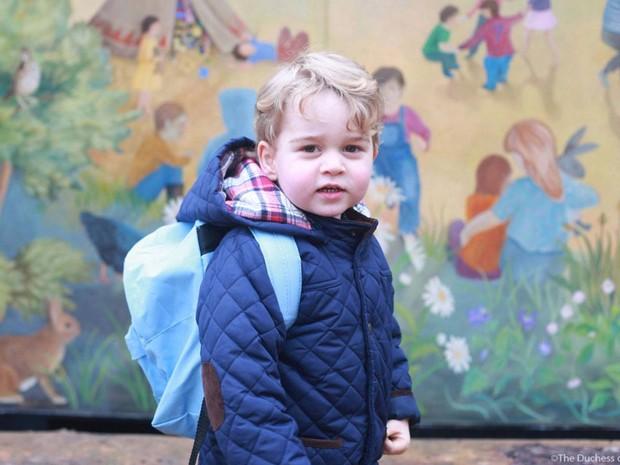 O principe George em seu primeiro dia na creche em Norfolk - Crédito: The Dutchess of Cambridge/Divulgação/Reprodução