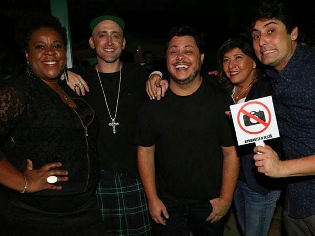 Cacau Protásio, Paulo Gustavo, Marcus Majella, Roberta Miranda e Bruno De Luca - Crédito: Reprodução/Instagram