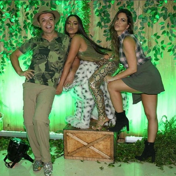 David Brazil, Anitta e Carol Sampaio - Crédito: Reprodução/Instagram