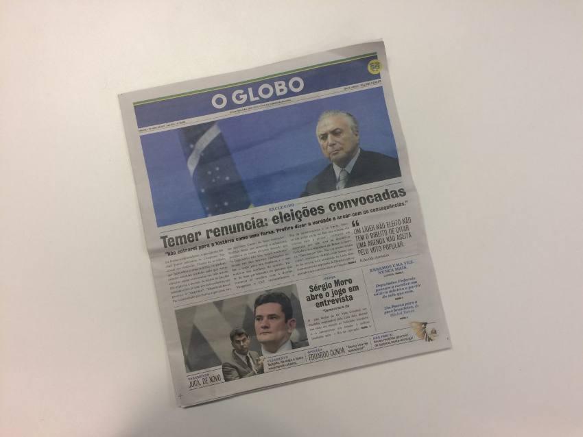 A edição falsa de O Globo