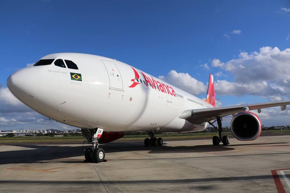 Airbus A330, aeronave que vai operar os voos internacionais. Crédito: Divulgação/Facebook