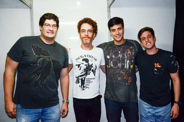 Dodi Teixeira Nando Reis Eduardo Campelo e Felipe Lucena - Crédito: Wellington Silva/Divulgação