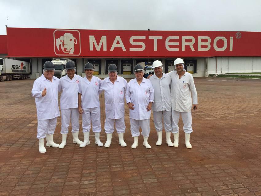 Empresarios pernambucanos no Frigorifico Master Boi
