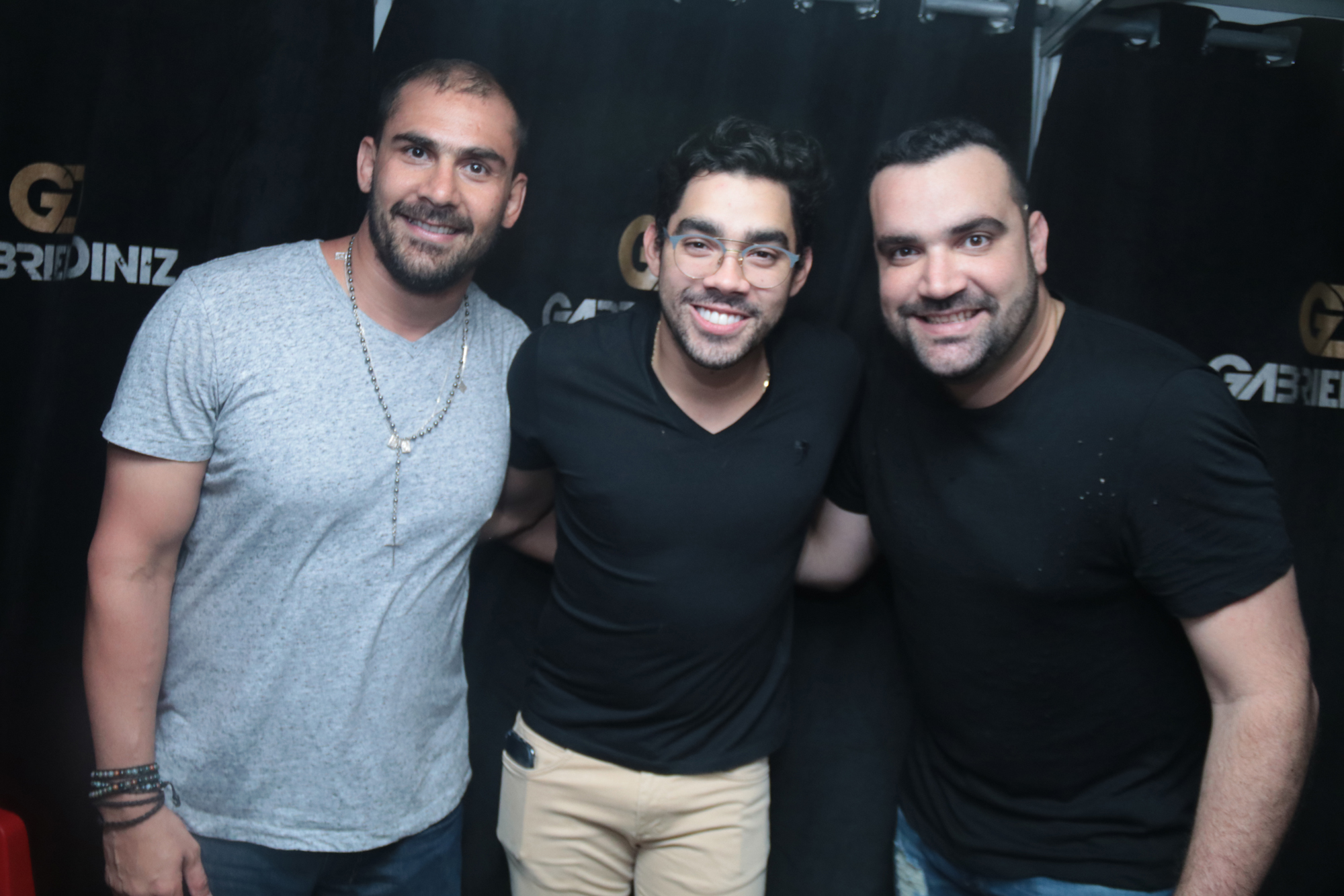 Bruno Novaes, Gabriel Diniz e Chico Acioly - Crédito: Luiz Fabiano/Divulgação
