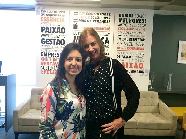 Bel Pesce e Sophia Lins, presidente do LIDE Mulher - Crédito: Marilia Gouveia/DP