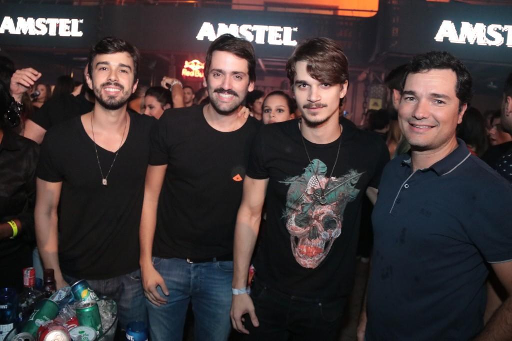 Rafael Lobo, Jorge Peixoto, Victor Carvalheira e Geraldo Bandeira de Melo - Crédito: Luiz Fabiano