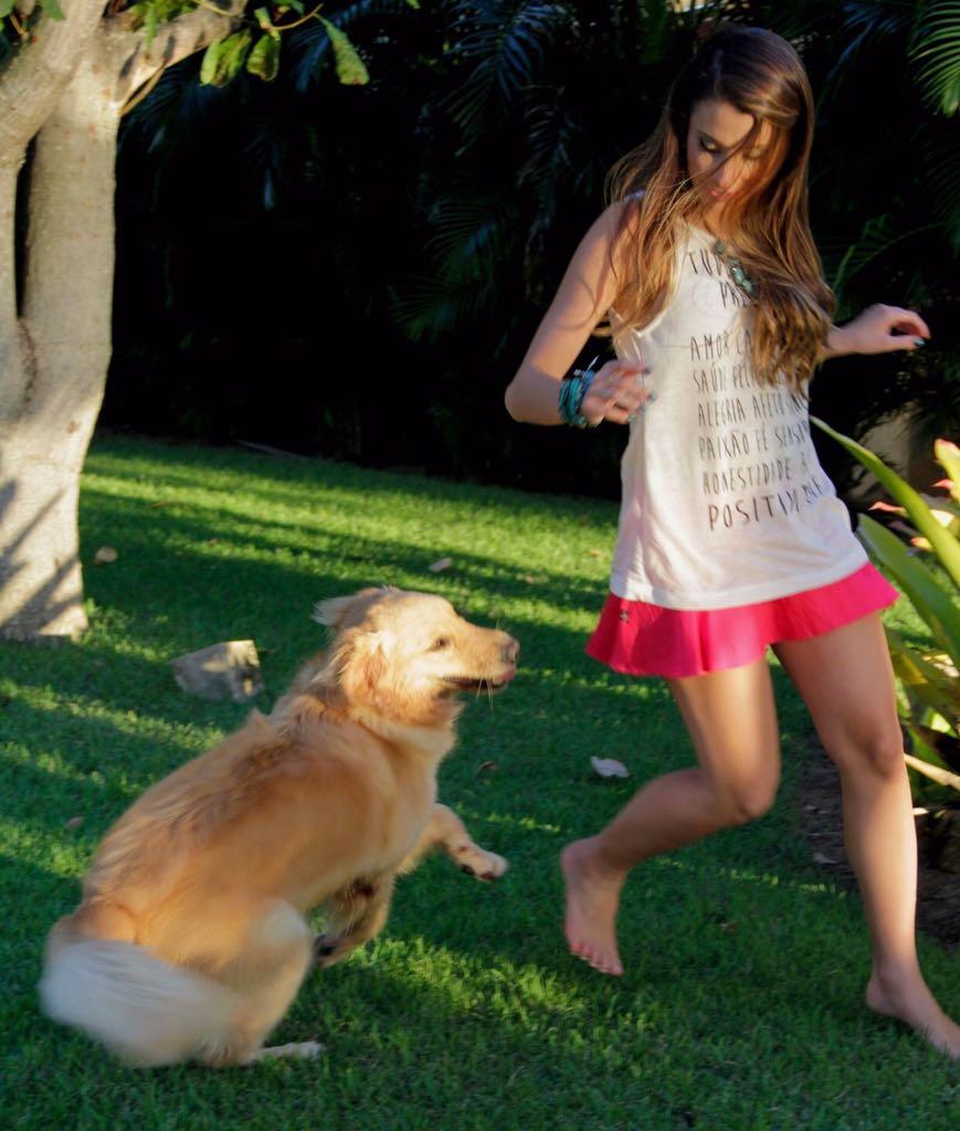 Juliana com Becky - Crédito: Arquivo pessoal