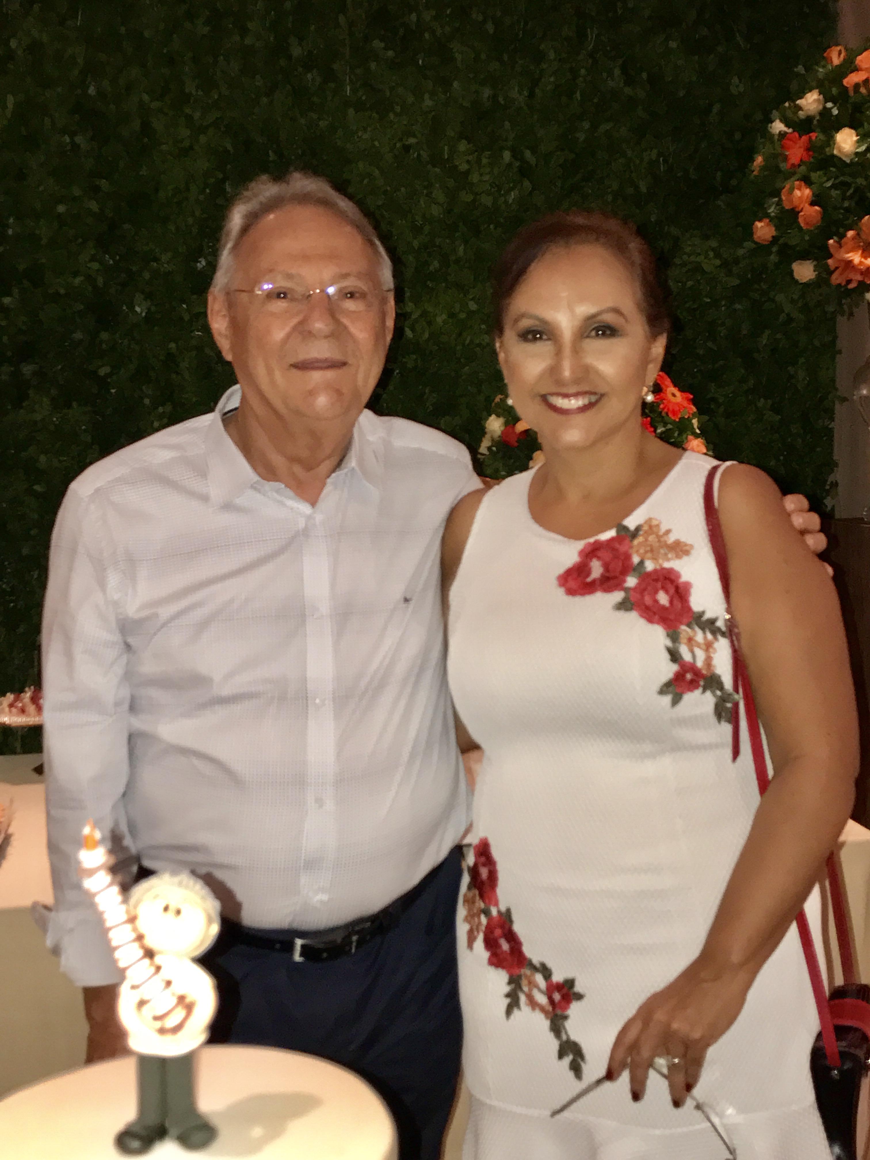 Tibério Moreno e Margareth Farias