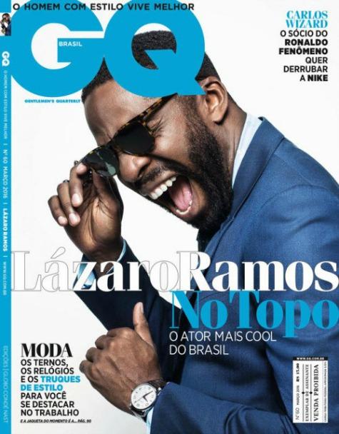 Lázaro Ramos na capa da GQ - Crédito: Divulgação