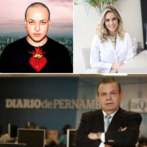 Walério Araújo, Gleyce Fortaleza e João Alberto - Crédito: Divulgação
