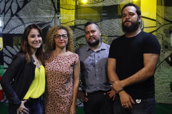 Os curadores Tatiana Sotero, Cláudia Aires, Guga Marques e Raoni Assis - Crédito: Ricardo Fernandes/DP