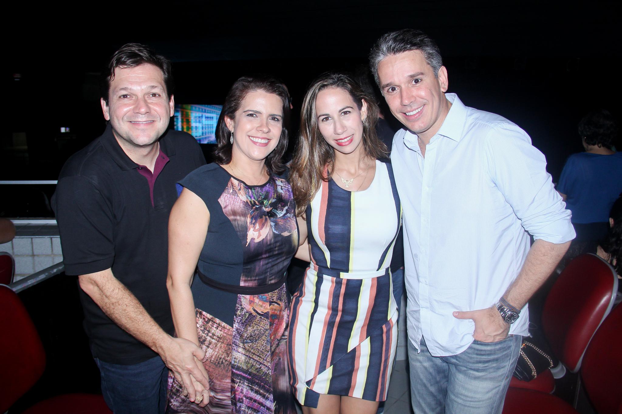 Geraldo Julio, Cristina Melo, Fabiana Carreras e Felipe Carreras - Crédito: Wellington Silva/Divulgação