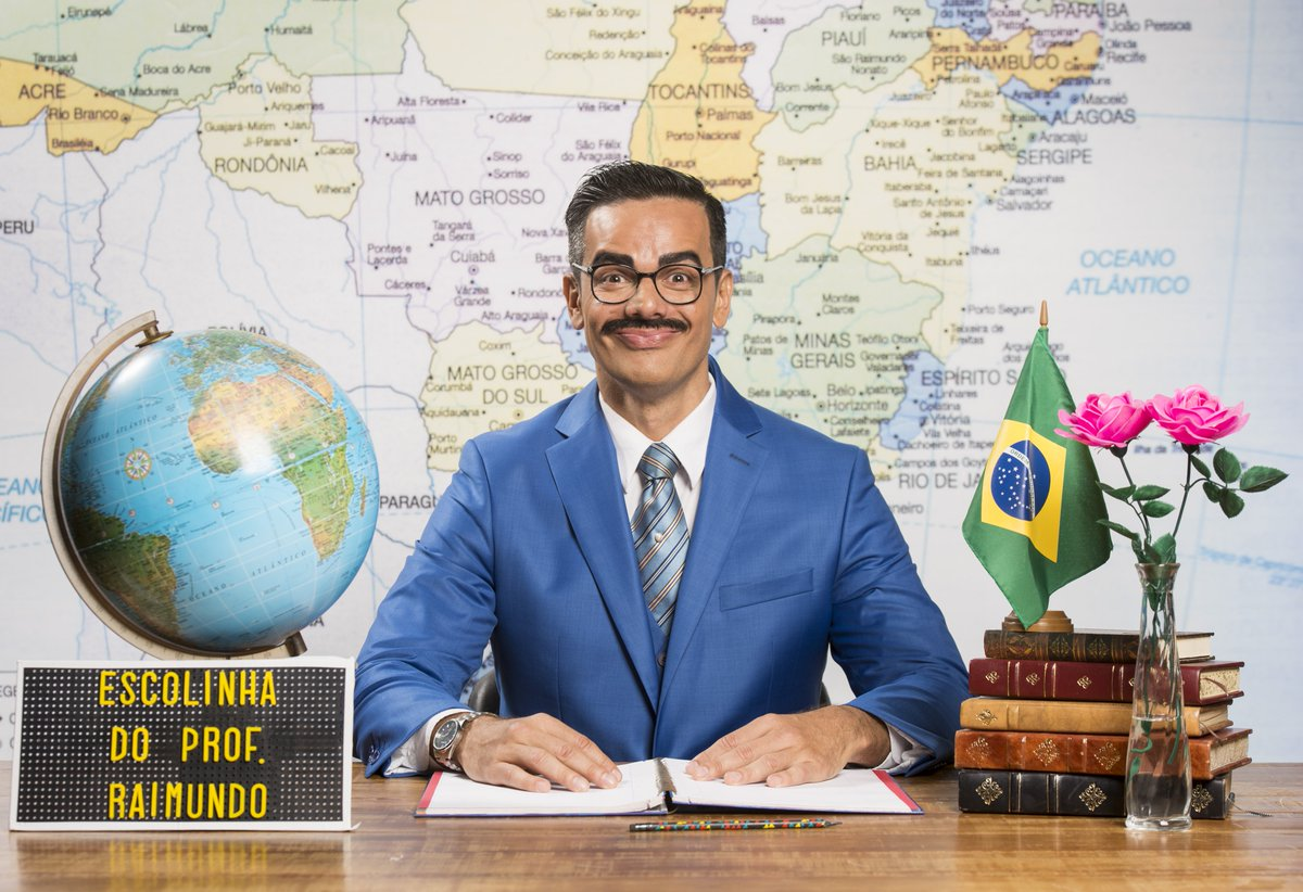 Otaviano Costa na Escolinha do Professor Raimundo - Crédito: Reprodução/Twitter