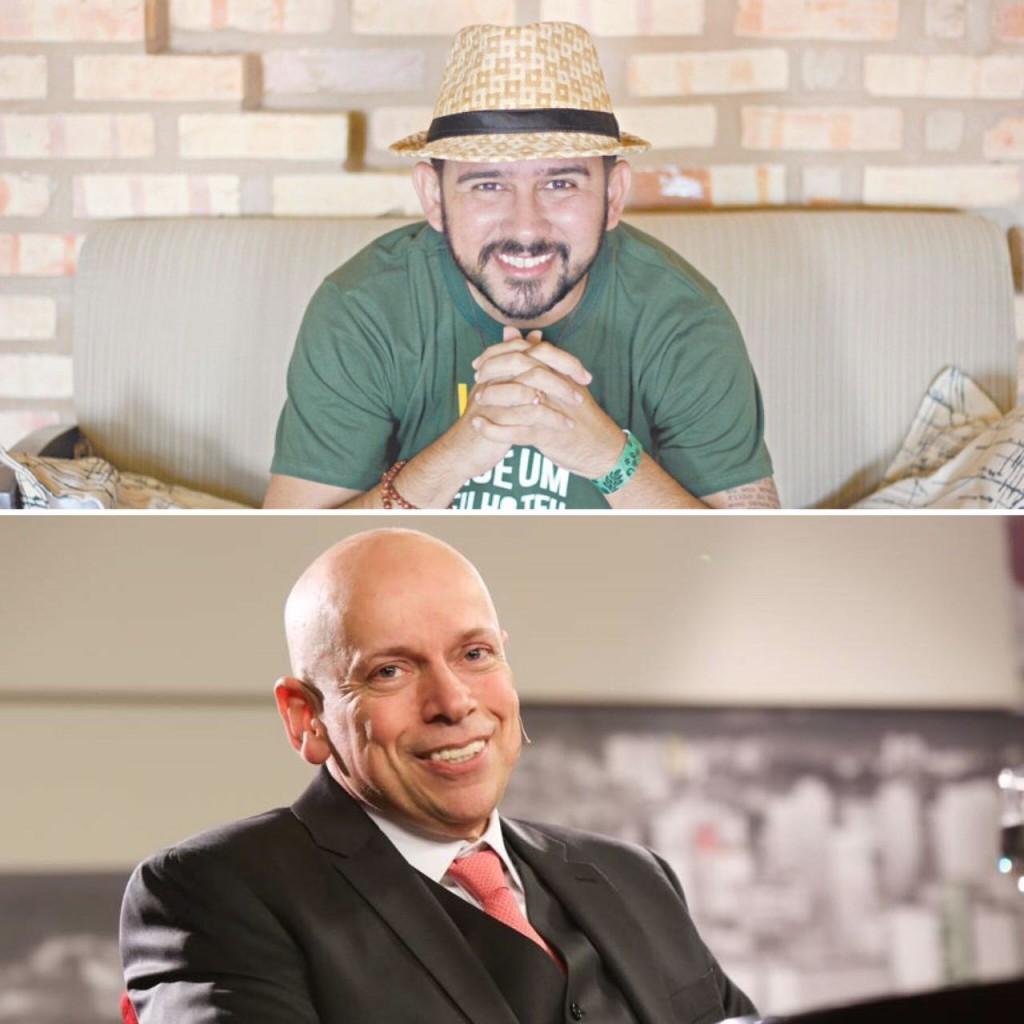 Bráulio Bessa e Leandro Karnal - Crédito: Divulgação