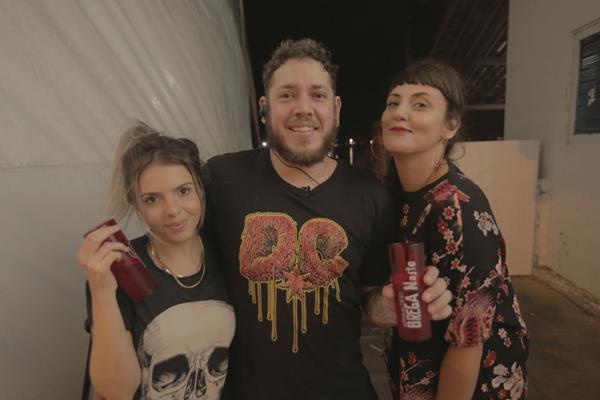 Bárbara Lima, André Nasa e Natascha Lux - Crédito: Celo Silva