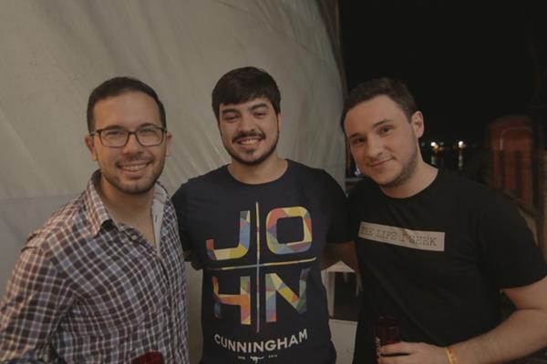 Mário Gil, Tadeu Rocha e Jorge Régis - Crédito: Celo Silva