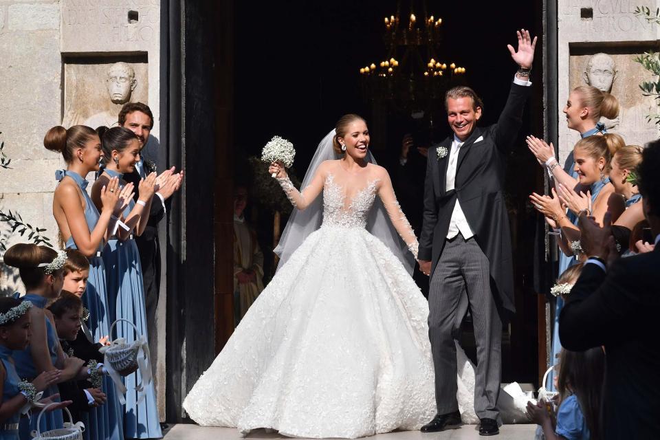 Victoria Swarovski casou-se com o investidor Werner Mürz - Crédito: Reprodução/The Sun