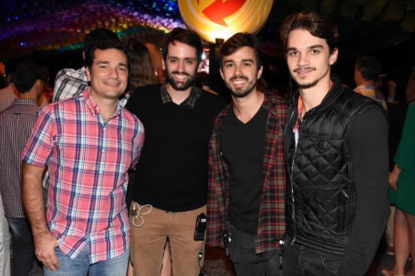 Geraldo Bandeira, Jorge Peixoto, Rafael Lobo e Victor Carvalheira - Crédito: Felipe Souto Maior