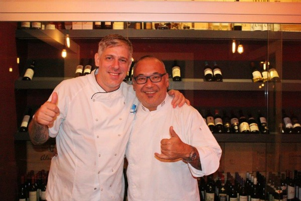 Os chefs Miguel Castillo e Márcio Fushimi - Crédito: Divulgação