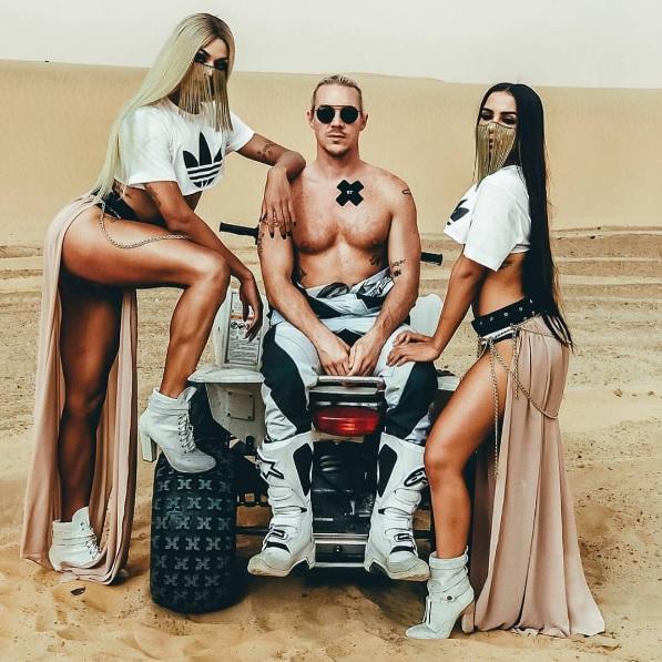 Pabllo Vittar, Diplo (Major Lazer) e Anitta em gravação do clipe de Sua Cara - Crédito: Reprodução/Instagram