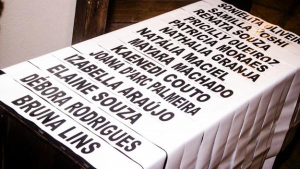 As faixas significam que as participantes são oficialmente candidatas - Crédito: KreativE Assessoria/Divulgação