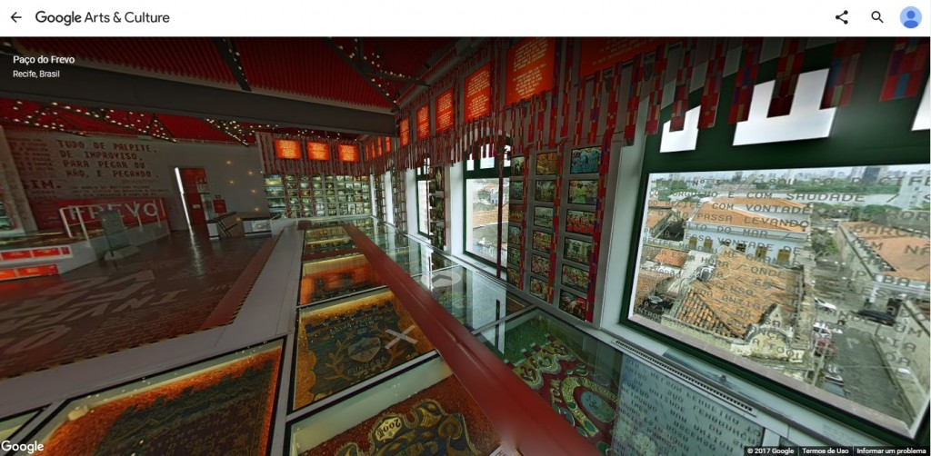 Os andares do Paço do Frevo foram fotografados em 360° - Crédito: Reprodução/Google Arts & Culture