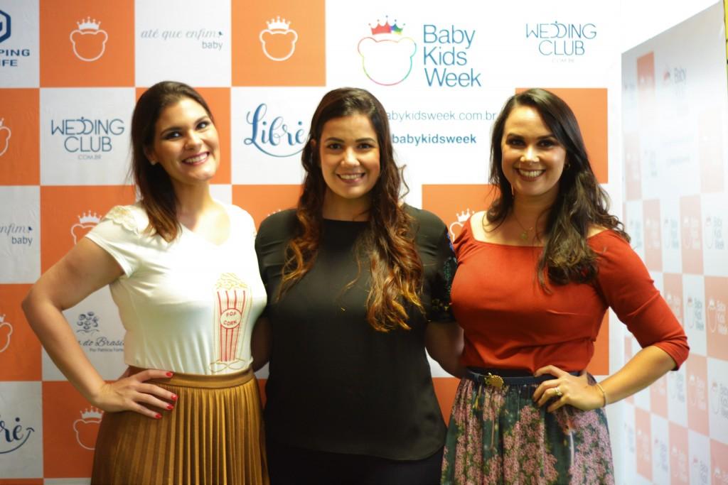 Clarice Possidônio, Patrícia Fortes e Nina Lacerda comandam a Baby Kids Week - Crédito: Livia Franco/Divulgação