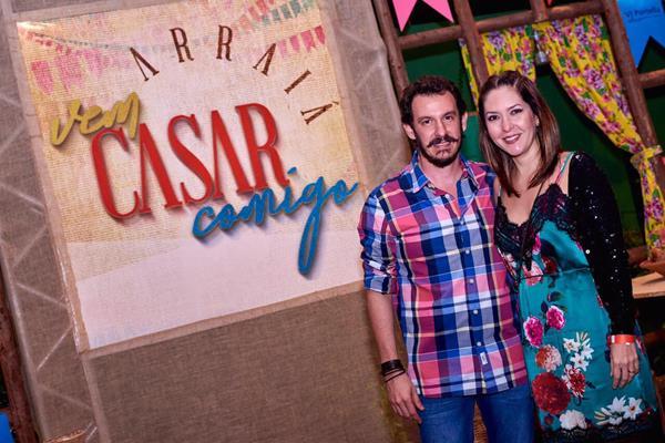 Paulinho Melo e esposa - Crédito: Antônio Félix