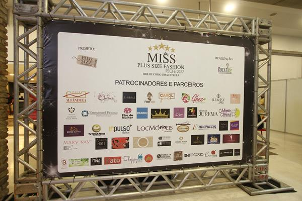 Patrocinadores do Miss Plus Size Fashion Recife - Crédito: Roberto Ramos