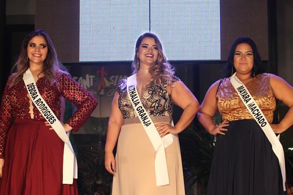 Top 3 do concurso Miss Plus Size Fashion Recife - Crédito: Roberto Ramos