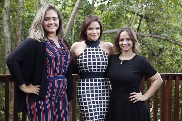Helo Paiva, Cuca Amorim, Cela Sotero - Crédito: Gleyson Ramos/Divulgação