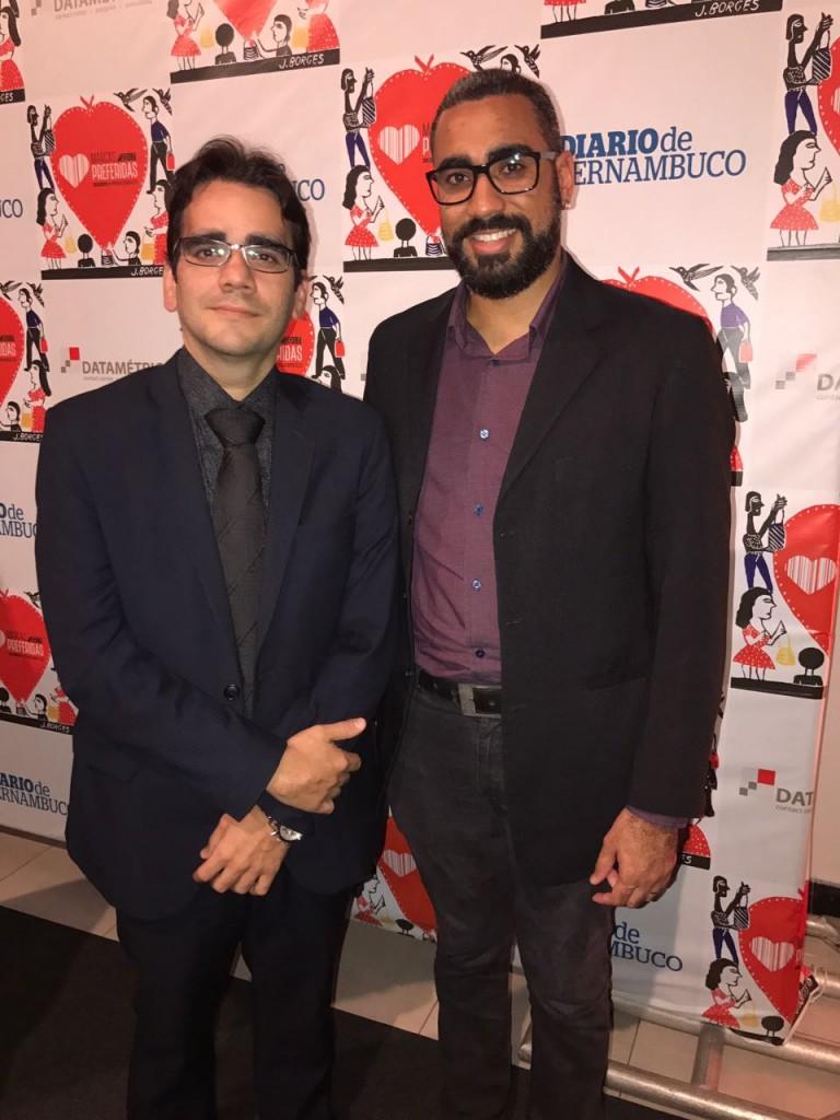 Fernando Santana, da Agência Um, e Bruno Burgos, gerente de marketing do grupo Ser Educacional - Crédito: Thayse Boldrini/DP