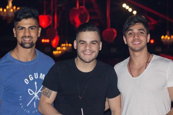 Gley Júnior, Emerson Henrique e Fernando Lobo - Crédito: André Valença